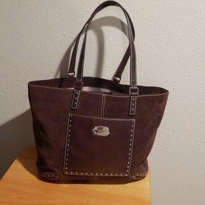 4fb628437567b9 Michael Kors Bags - Michael Kors Astor Suede Leather Tote Coffee